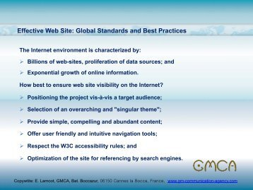 standards and best practices in effiece web site ... - UNECE