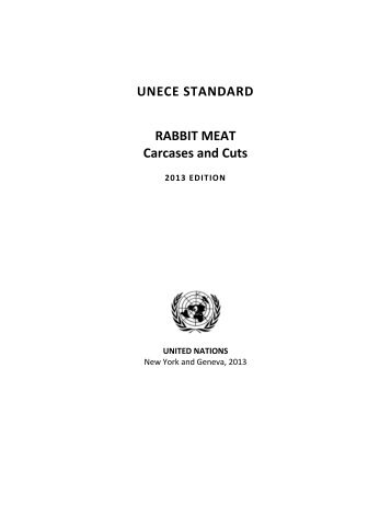 UNECE STANDARD RABBIT MEAT Carcases and Cuts