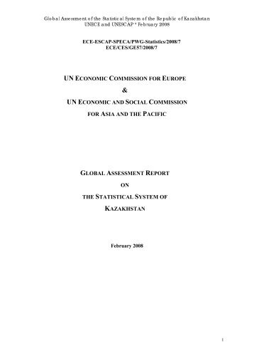UN ECONOMIC COMMISSION FOR EUROPE & - UNECE