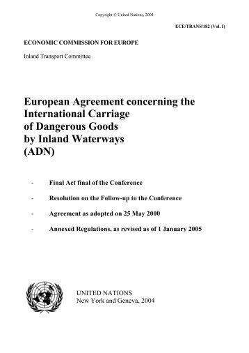 European Agreement concerning the International ... - UNECE