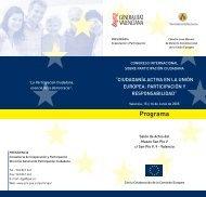 Jornadas sobre participación ciudadana - Uned