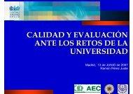 calidad y evaluación ante los retos de la universidad - UNED