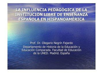 la influencia pedagógica de la institución libre de enseñanza