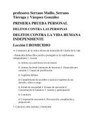 Esquemas profesores Serrano Maíllo, Serrano Tárraga ... - Uned