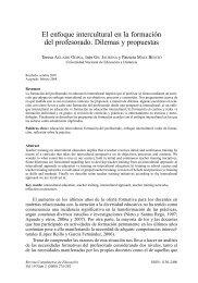 El enfoque intercultural en la formación del profesorado ... - UNED