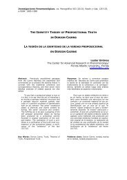 the identity theory of propositional truth in dorion cairns la ... - UNED