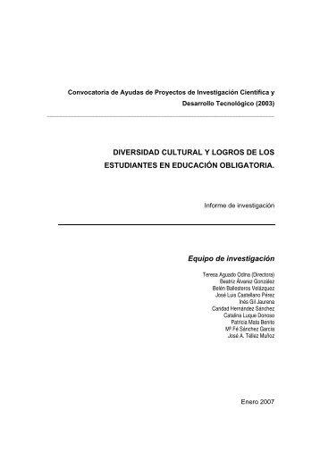 DIVERSIDAD CULTURAL Y LOGROS DE LOS ... - UNED