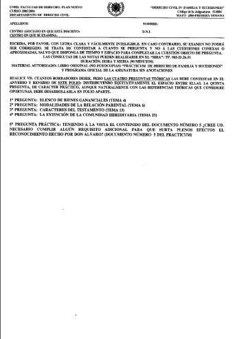 derecho civil iv (familia y sucesiones) - UNED Cervera