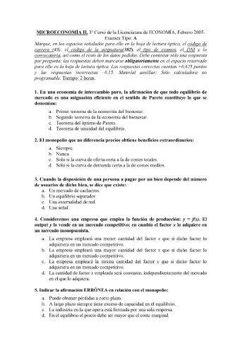 MICROECONOMÍA II. 3D Curso de la Licenciatura ... - UNED Cervera