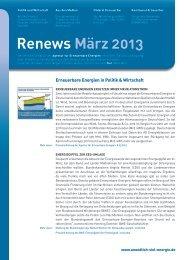 Renews März 2013 - Agentur für Erneuerbare Energien