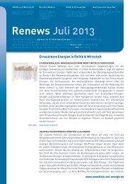 Renews Juli 2013 - Agentur für Erneuerbare Energien