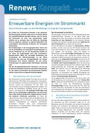 Erneuerbare Energien im Strommarkt - Agentur für Erneuerbare ...