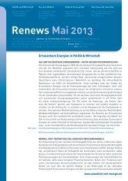 Renews Mai 2013 - Agentur für Erneuerbare Energien