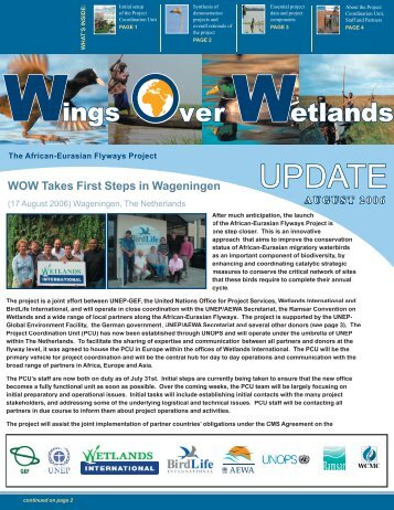 Newsletter: English - Wings Over Wetlands - Wetlands International