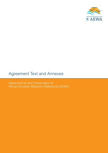 Agreement Text And Annexes Convention On Migratory Species
