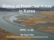 Status of Protected Areas in Korea - UNEP World Conservation ...