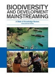 Biodiversity-Development Mainstreaming State of Knowledge Review