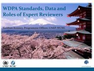 WDPA Data and Standards - UNEP World Conservation Monitoring ...