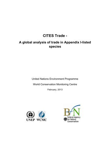 CITES trade - a glob.. - UNEP World Conservation Monitoring Centre
