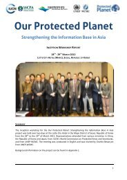 Inception Workshop Report (PDF) - UNEP World Conservation ...