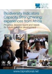 Biodiversity Indicators Capacity Strengthening ... - BIP Indicators