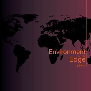 Environment on the Edge 2006 - UNEP World Conservation ...