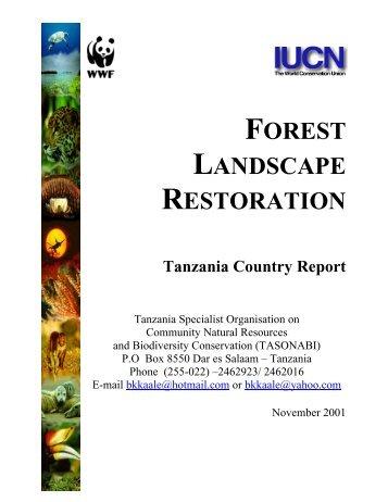 FOREST LANDSCAPE RESTORATION - UNEP World Conservation ...