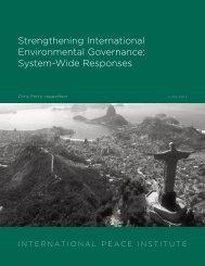 System-Wide Responses - International Environmental Governance