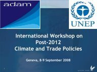 Introduction to the ADAM Project - UNEP