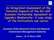 Uganda Integrated Assessment - Results and ... - UNEP