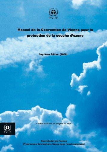 Convention de Vienne pour la protection de la couche d'ozone - UNEP