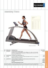 Produktblatt zum Download - H-P-COSMOS Sports and Medical