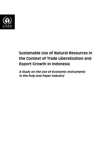 Sustainable Use of Natural Resources in the Context of Trade - UNEP