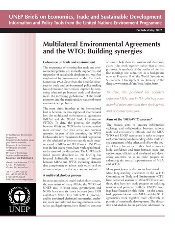 Building synergies - UNEP