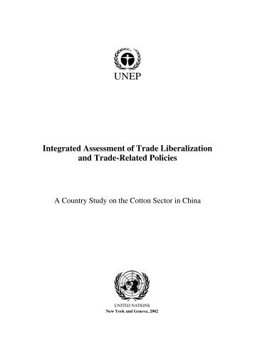 A Country Study on the Cotton Sector in China - UNEP