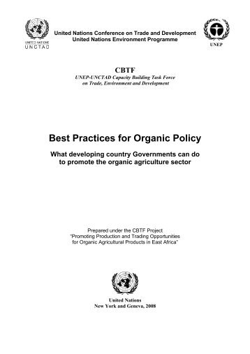 Best Practices for Organic Policy - What developing country - UNEP
