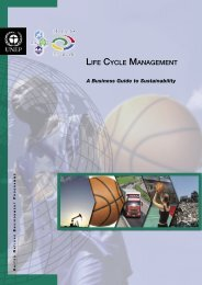 Life Cycle Management: A Business Guide to Sustainability - UNEP