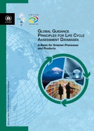global guidance principles for life cycle assessment databases - UNEP