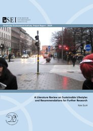 A Literature Review on Sustainable Lifestyles and ...
