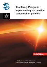 Tracking progress: Implementing sustainable consumption ... - DTIE