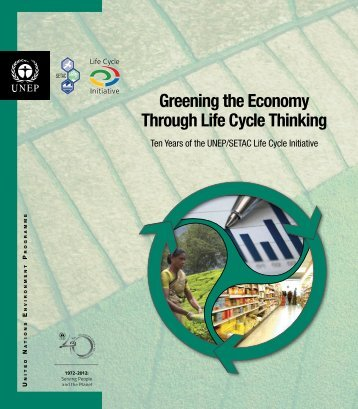 Greening the Economy Through Life Cycle Thinking - DTIE