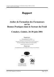 Rapport Atelier de Formation des Formateurs sur les Bonnes - DTIE