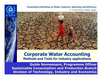Corporate Water Accounting - Methods and Tools for Industry ...