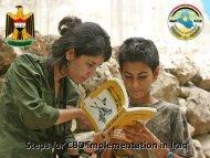 Steps for CBD implementation in Iraq (Dr. Ali Al-Lami) - International ...