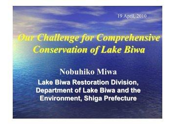 Our Challenge for Comprehensive Conservation of Lake Biwa (Mr ...
