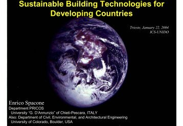 Sustainable Building Technologies for Developing Countries