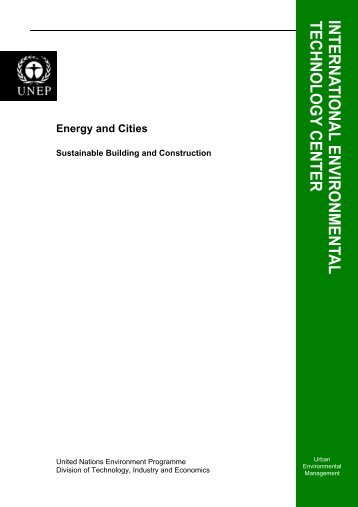 Energy and Cities - International Environmental Technology Centre