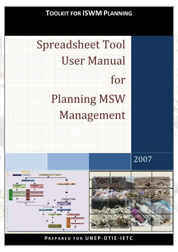 Spreadsheet Tool User Manual for Planning MSW Management