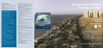 Coastal Area Pollution The Role of Cities - UNEP