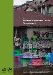 Towards Sustainable Urban Development - UNEP